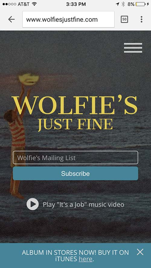 wolfies just fine mobile website design